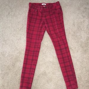 Red and Black Plaid MUDD pants